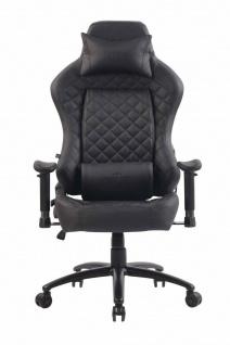 XL Bürostuhl 150 kg belastbar schwarz Kunstleder Chefsessel Gamer Gaming Zocker - Vorschau 2