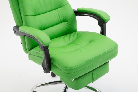 XL Chefsessel belastbar 136kg Kunstleder grün Bürostuhl Fußablage modern design - Vorschau 5
