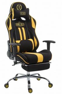 XL Chefsessel 150kg belastbar gelb schwarz Bürostuhl Fußablage Gamer Zocker