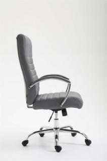 XL Bürostuhl bis 136 kg belastbar Kunstleder grau Chefsessel hochwertig design - Vorschau 3