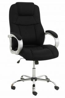 XXL Chefsessel 150 kg belastbar Kunstleder schwarz Bürostuhl schwere Personen