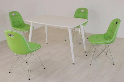 Tischgruppe mint/weiß Essgruppe Esszimmergruppe Schalenstuhl modern design D3