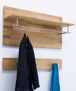 Wandpaneel Kernbuche massivholz geölt Paneel Garderobenpaneele mit Hakenleiste