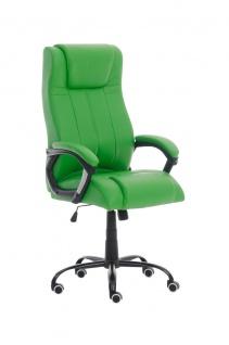XXL Bürostuhl 150 kg belastbar grün Kunstleder Chefsessel schwere Personen