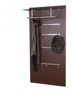 Garderoben-Paneel Wenge modern Wandgarderobe design Garderobenleiste Milchglas