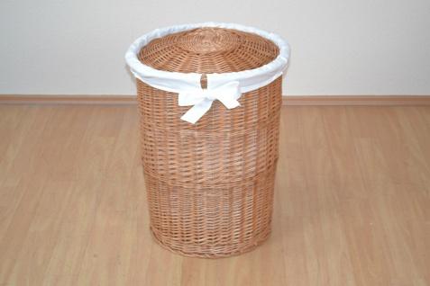 Wäschesammler Weide Stoffeinsatz Wäschetruhe Wäschekorb Wäschebox Wäschesack