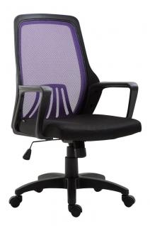 Bürostuhl bis 120 kg schwarz lila Netzbezug Drehstuhl günstig preiswert modern