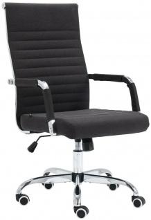 Bürostuhl 120 belastbar Stoff schwarz Chefsessel Drehstuhl Computerstuhl stabil