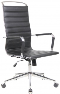 Chefsessel Echtleder schwarz Schreibtischstuhl Drehstuhl Bürostuhl Computerstuhl