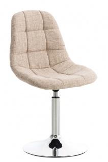 Esszimmerstuhl creme drehbar Stoffbezug Küchenstuhl design modern hochwertig
