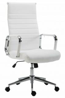Bürostuhl 136 kg belastbar weiß Kunstleder Chefsessel modern design stabil