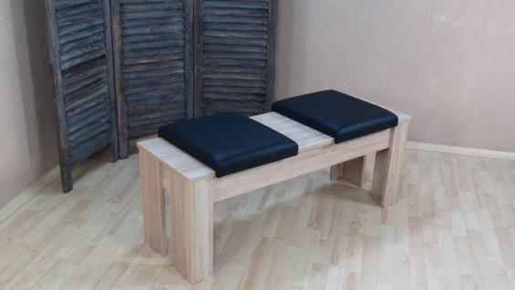 moderne Sitzbank mit Kissen Sonoma Eiche Hocker Garderobenbank günstig preiswert