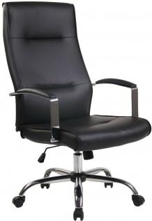 Chefsessel 136 kg belastbar Kunstleder schwarz Bürostuhl Drehstuhl robust stabil