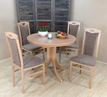 2 x Stuhl massivholz Buche natur cappuccino Esszimmer Stuhlset 2er Set design