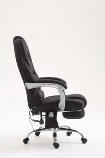 XXL Bürostuhl 150 kg belastbar schwarz Stoffbezug Chefsessel Massagefunktion - Vorschau 4