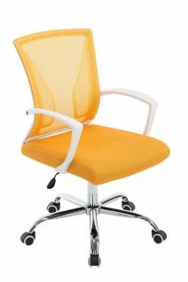 Bürostuhl ergonomisch gelb Netzbezug Drehstuhl Computerstuhl stabil belastbar