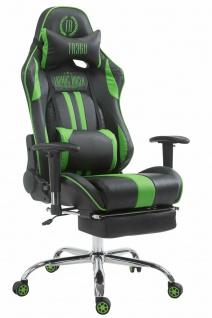 XL Chefsessel 150 kg belastbar schwarz grün Bürostuhl Fußablage Zocker Gamer