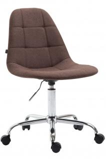 Bürostuhl Stoffbezug braun modern design drehbar Drehstuhl Arbeitshocker günstig