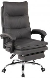 XL Bürostuhl 136 kg belastbar grau Kunstleder Chefsessel Computerstuhl Drehstuhl