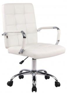 Bürostuhl 120 kg belastbar Kunstleder weiß Drehstuhl modern design stabil NEU