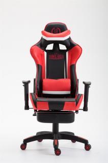 XL Chefsessel schwarz rot Kunstleder Bürostuhl modern design hochwertig stabil