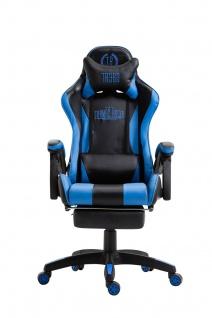 XL Bürostuhl schwarz/blau Drehstuhl Chefsessel Computerstuhl Schreibtischstuhl