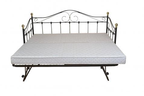 Tagesbett schwarz inkl. Lattenrost Einzelbett Day-Bed Gästebett romantisch Bett