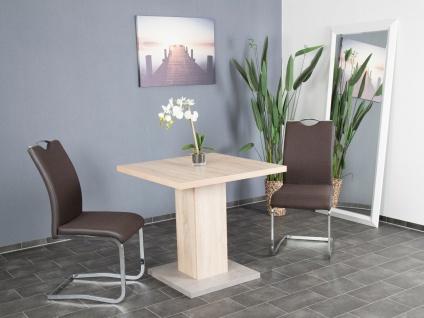 Esstisch Sonoma Betonoptik Säulentisch Esszimmer modern design günstig preiswert
