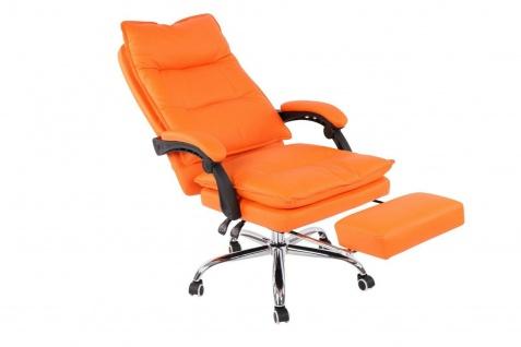 XL Bürostuhl 136 belastbar orange Kunstleder Chefsessel Computerstuhl Drehstuhl - Vorschau 5