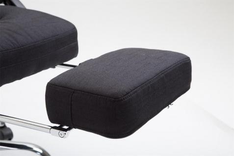 Chefsessel belastbar 136 kg Stoffbezug schwarz Bürostuhl klassisch Fußablage - Vorschau 5