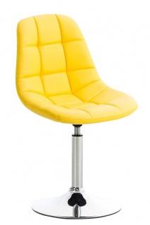 Esszimmerstuhl gelb drehbar Kunstleder Küchenstuhl design modern hochwertig