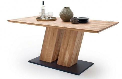 Säulentisch 160x90 cm Zerreiche massiv geölt Esstisch Esszimmertisch Massivholz