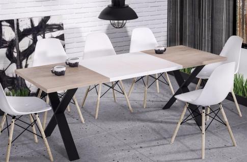 hochwertiger Esstisch 130-170 ausziehbar Sonoma Küche Esszimmer Metall modern