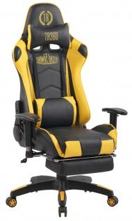 XXL Bürostuhl schwarz gelb Kunstleder Chefsessel Massagefunktion beheizbar Wärme
