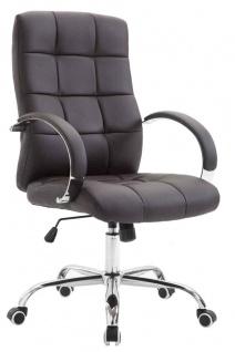 Bürostuhl 120 kg belastbar Kunstleder braun Chefsessel hochwertig stabil neu