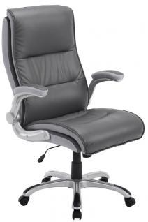 XXL Bürostuhl bis 150 kg grau Kunstleder Chefsessel modern hochwertig günstig