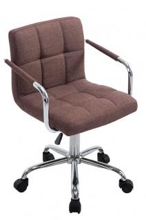 Bürostuhl Stoffbezug braun Drehstuhl Arbeithocker moderner look design belastbar