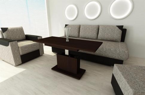 Couchtisch Wenge ausziehbar Wohnzimmer design modern edler Sofatisch Auszugtisch