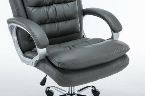 XXL Bürostuhl bis 235 kg belastbar Kunstleder grau Chefsessel schwere Personen - Vorschau 2
