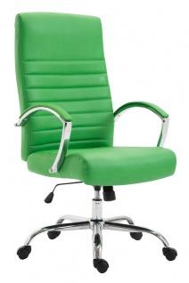 XL Bürostuhl bis 136 kg belastbar Kunstleder grün Chefsessel hochwertig design