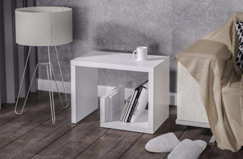 Beistelltisch Hochglanz weiß Beitisch Sofatisch hochwertig modern design günstig