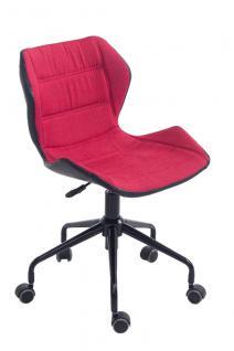 Bürostuhl rot Stoffbezug Bürosessel robust günstig preiswert design Chefsessel