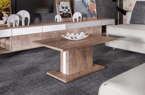 moderner Couchtisch mit Säule nussbaum Sofatisch Wohnzimmertisch günstig design