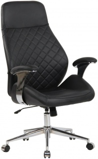 Chefsessel Echtleder schwarz 150kg belastbar Drehstuhl Bürostuhl modern design