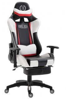 XL Chefsessel schwarz weiß Kunstleder Bürostuhl modern design hochwertig stabil