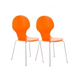 2 x Besucherstuhl orange Wartezimmer Messen Stuhlset günstig preiswert modern