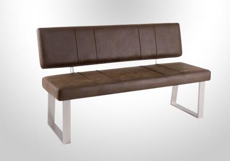 moderne Sitzbank Vintage dunkel Hockerbank Leder-look günstig preiswert neu