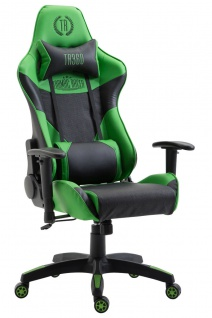 XL Racing Bürostuhl 136kg belastbar Kunstleder schwarz grün Chefsessel Zocker