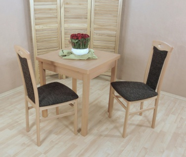 Tischgruppe massivholz Buche natur schoko Stuhlset 2er Set Stühle Auszugtisch