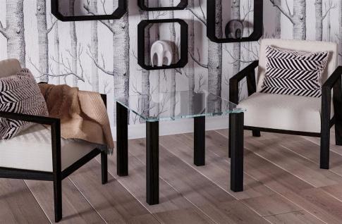 design Glastisch Wenge kleiner Beistelltisch Couchtisch modern hochwertig neu